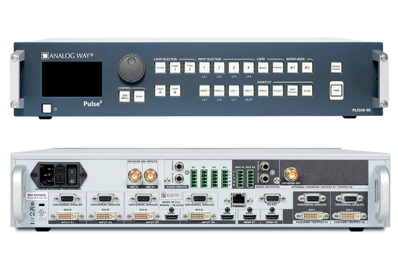 HD Seamless Switcher Matrix Scaler Analog Way
